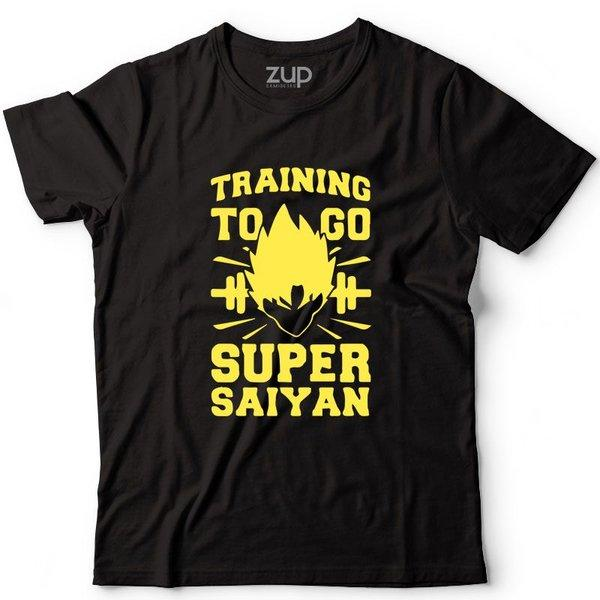Camiseta Training To Go Super Saiyan - Zup Camisetas